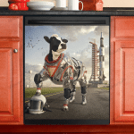 Dishwasher Cover - Funny Cow 02