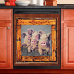 Pig Decor Kitchen Dishwasher Cover 6