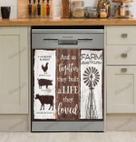 And So Together They Built A Life They Loved Decor Kitchen Dishwasher Cover