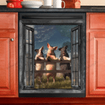 Pig Decor Kitchen Dishwasher Cover 3