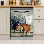 Cute Cat Dishwasher Cover 10