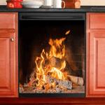 Fireplace Decor Kitchen Dishwasher Cover 2