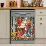 Cardinal Hummingbird Decor Kitchen Dishwasher Cover
