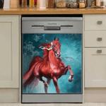 Horse Art Decor Kitchen Dishwasher Cover