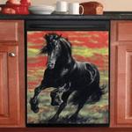 Friesian Horse Running Decor Kitchen Dishwasher Cover