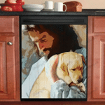 LABRADOR IN GOD'S ARMS DECOR KITCHEN DISHWASHER COVER