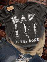 Bad Bone Print Short Sleeve T-shirt