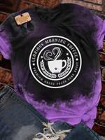 Winifred Coffee Halloween Print Short Sleeve T-shirt