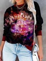 Sanderson Witch Museum Halloween Print Long Sleeve Sweatshirt