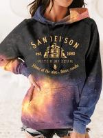 Sanderson Witch Print Long Sleeve Hoodie