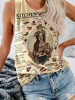 Vintage Kitchen Witchery Poster Print Sleeveless Tank
