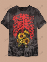 Halloween Skeleton Print Short Sleeve T-shirt