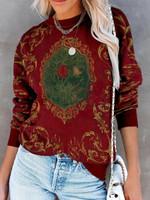 Halloween Library book Print Long Sleeve Sweatshirt