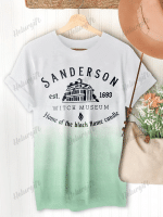 Sanderson Witch Museum Halloween Print Short Sleeve T-shirt