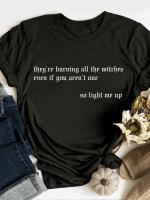 Burning Witchesv Print Short Sleeve T-shirt