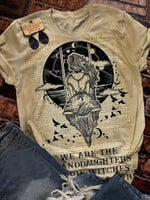 We Are the Granddaughters of the Witches You Could Not Burn Salem Witch Print Short Sleeve T-shirt