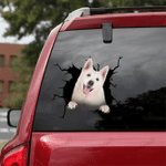 [DA0364-snf-tnt] German Shepherd Crack car Sticker dogs Lover