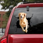 [DA0240-snf-tnt] Golden Retriever Crack car Sticker dogs Lover