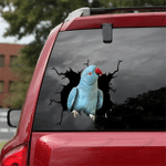 [DT0112-snf-tnt] Norwegian Blue Parrot Crack car Sticker birds Lover