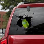 [BV0151-snf-tnt] Nanday Parakeet Parrot Crack car Sticker birds Lover