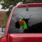 [DT0295-snf-tnt] Green-naped Lorikeet Crack car Sticker Birds Lover