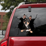[sk0712-snf-tnt] Chihuahua Crack Sticker DOGs Lover