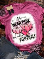 In October We Wear Pink Bleached Print Short Sleeve T-shirt