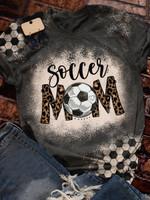 Soccer mom Print Short Sleeve T-shirt