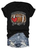 Touchdown Season Print Short Sleeve T-shirt