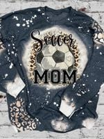Soccer Mom Print Long Sleeve Sweatshirt