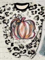 Pumpkin Print Short Sleeve T-shirt
