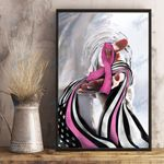 Breast cancer give me your hand Wall Art Print Poster