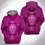 Breast Cancer Mandala Fight Like A Girl 3D All Over Printed Shirt, Sweatshirt, Hoodie, Bomber Jacket Size S - 5XL