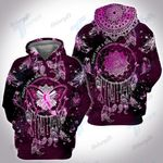 Breast Cancer Butterfly Dreamcatcher 3D All Over Printed Shirt, Sweatshirt, Hoodie, Bomber Jacket Size S - 5XL