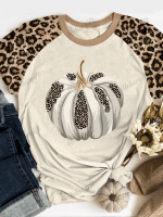 Fall Pumpkins Print Short Sleeve T-shirt