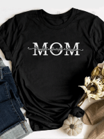Thankful Mama Print Short Sleeve T-shirt