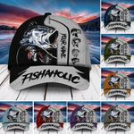 Premium Fishaholic Fishing Hats Multicolored Personalized   Clevefit