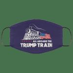 All Aboard The Trump Train 2020 Washable Cloth Mask