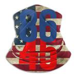 86 45 Anti Trump American Flag Neck Gaiter