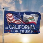 American And California For Trump Flags Support For President 3D Printed Flag