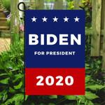 Blue Red Biden For President 2020 Printed Garden Flag