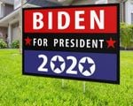 Biden For President 2020 Red Black Blue Line Printed Yard Sign