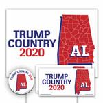 Alabama Is Trump Country 2020 Printed Yard Sign Kit