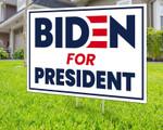 Blue Square Outline Biden For President For 2020 Presidential Election Printed Yard Sign