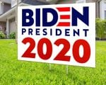 Blue And Red Letters Biden President 2020 Printed Biden Yard Sign