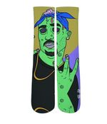 Green Zombie Design Printed Crew Socks