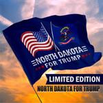 North Dakota For Trump President 2020 Flag