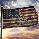 Gadsden Don't Tread On Me Vintage USA House Flag