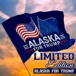 Alaska For Trump President 2020 Flag