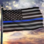 Thin Blue Line USA Printed House Flag